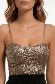 Sequinned Bustier