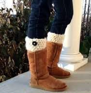 Uggs with Button Detail